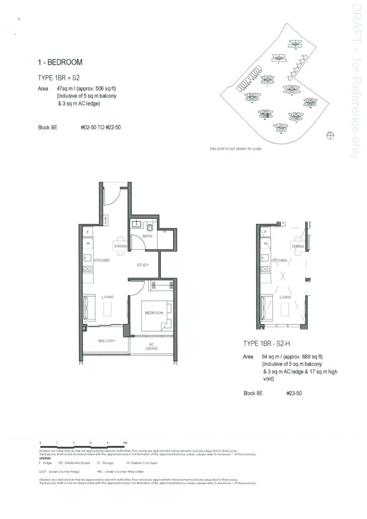 Parc Clematis 1 Bedroom + Study Floor Plan