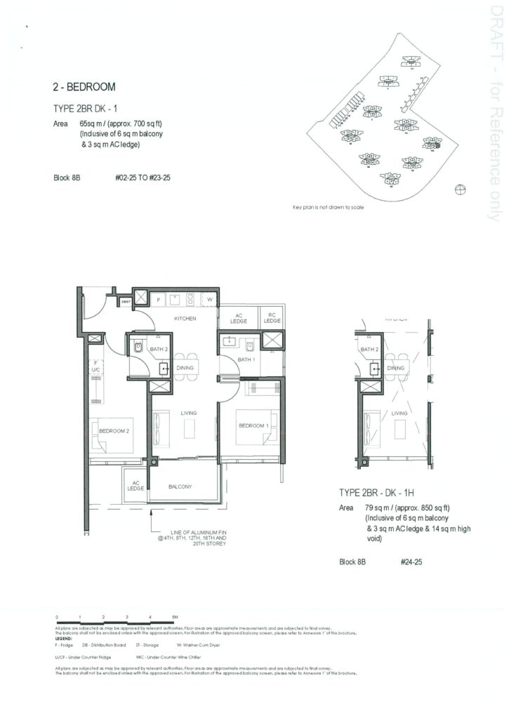 Parc Clematis 2 Bedroom Dual Key Floor Plan