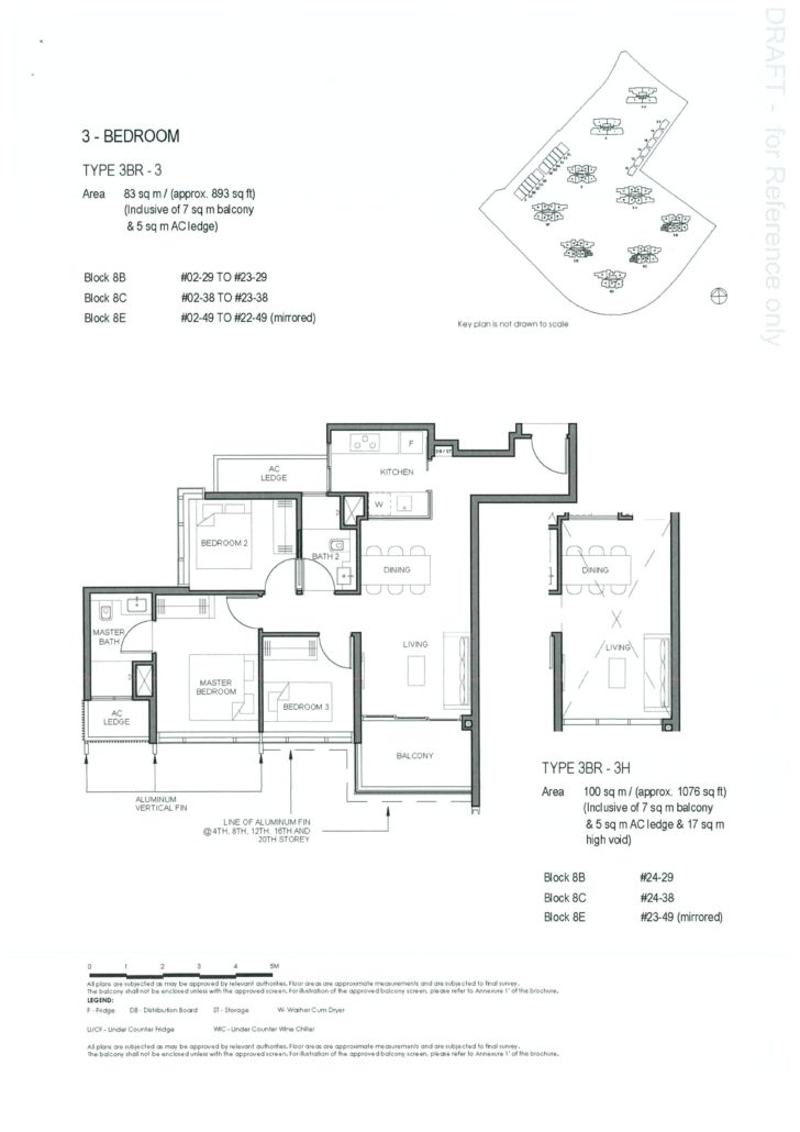 Parc Clematis 3 Bedroom Floor Plan